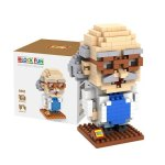 LOZ 9442 Mini Detective Conan Hershel Agasa Diamond Building Block 310Pcs Educational Toy