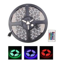 5m RGB 12V 300-LED SMD5050 Waterproof LED Strip Light with Remote Controller Depozitele din USA si noile promotii ale magazinului gearbest