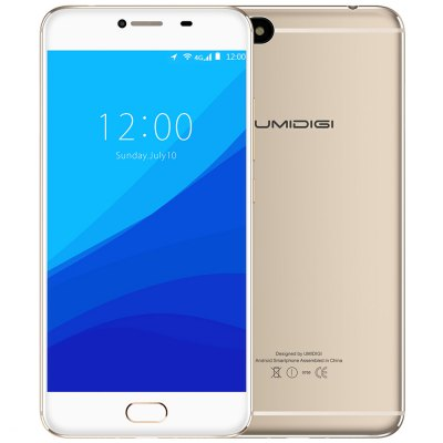 UMIDIGI C NOTE 4G Phablet Android 7.0 Fast Touch ID 13.0MP Rear Camera Hong Kong WareHouse