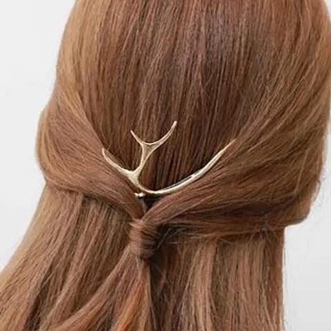 golden sweet deer shape solid color hair b for women rosegal