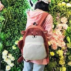 Schoolgirl Female Student Version Campus Harajuku Ulzzang Tide Backpack Corduroy Cute Cartoon -