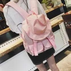 Sunny Ten Personality Double Shoulder Bag Female Fisherman Hat Sen Version Harajuku Ulzzang Travel -