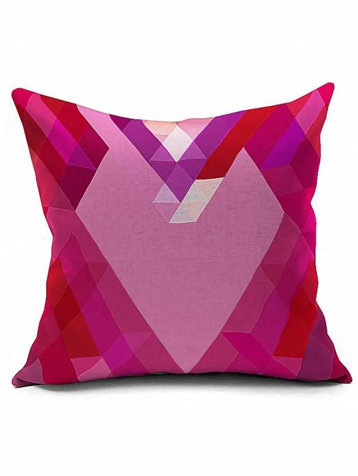 housse de coussin en forme de coeur geometrique housse d oreiller rose pale 18