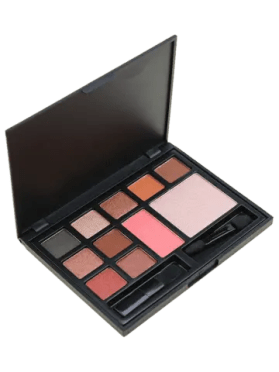 Shop 11 Colors Multipurpose Face Cosmetic Palette with Brushes PINK