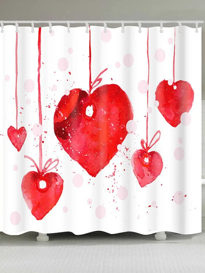 Red W71 Inch L79 Inch Valentines Day Heart Cherry