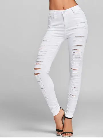 Trendy Distressed Skinny Jeans