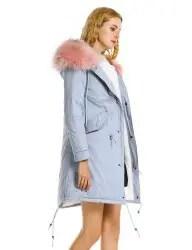 Fleece Lining Zipper Padded Coat -