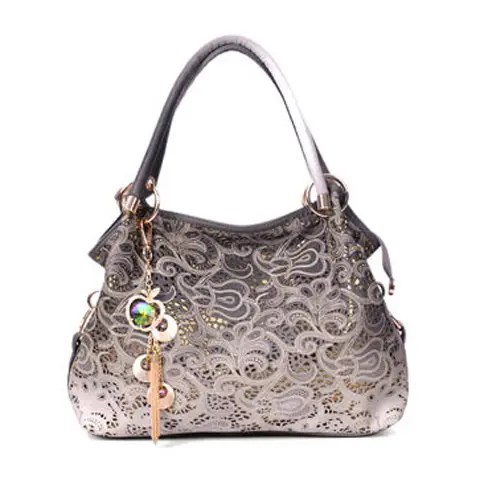 Fashion Style Tote and Chain Design Women's Street Level Handbag