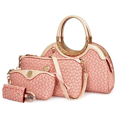 Stylish Geometric Print and Zipper Design Women's Tote Bag