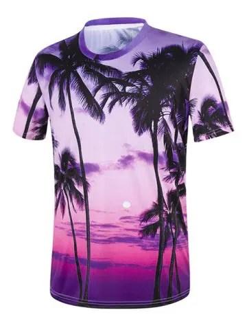 Tropical Palm Tree 3D Print T-Shirt