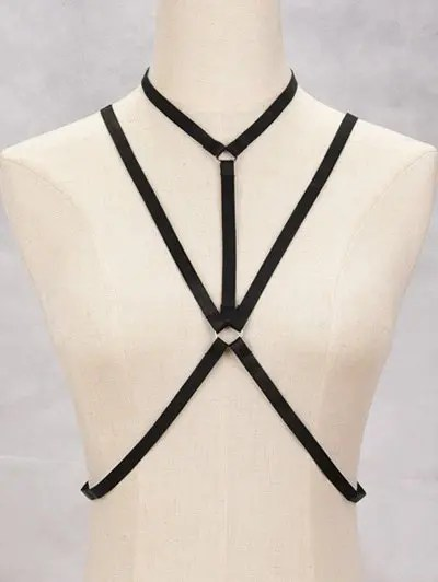 Zaful Geometric Bra Bondage Harness Body Jewelry