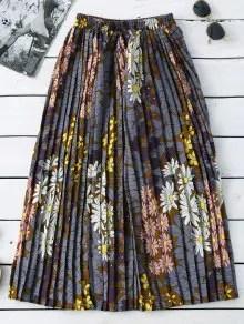 Zaful Floral Pleated Midi Skirt $14.99