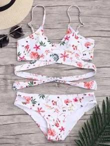 Floral Wrap Padded Bikini Set