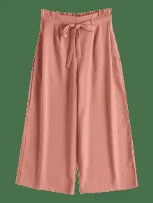 Drawstring Ninth Wide Leg Pants