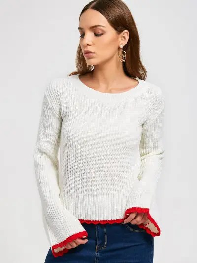 Zaful Two Tone Pullover Sweater