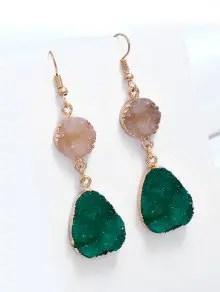 Unique Natural Stone Teardrop Drop Earrings