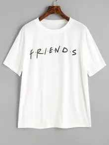 Contrasting Dots Letter T Shirt