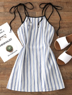 Firstgrabber Stripes Mini Slip Dress