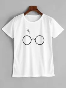 Cute Glasses Graphic T Shirt