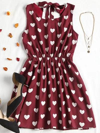 Zaful High Contrast Cut Out Valentine Mini Dress