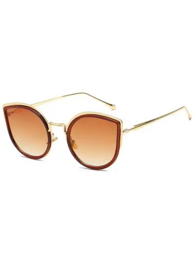 Retro Metal Frame Catty Sunglasses