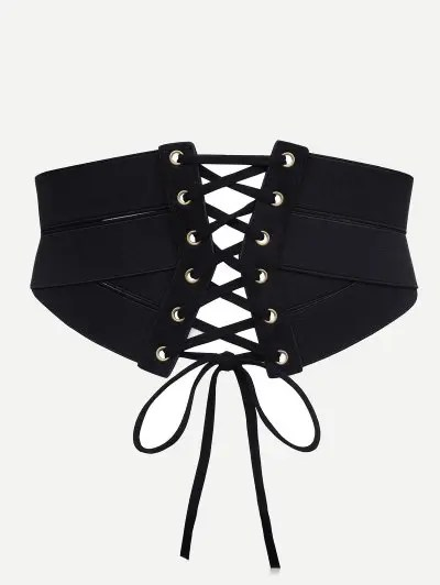 Stylish Drawstring Zipper Corset Waist Belt