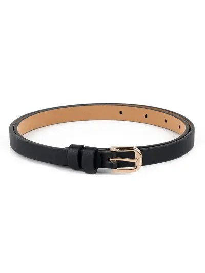 Casual Alloy Buckle Faux Leather Belt