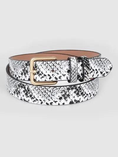 Vintage Snake Pattern PU Leather Waist Belt