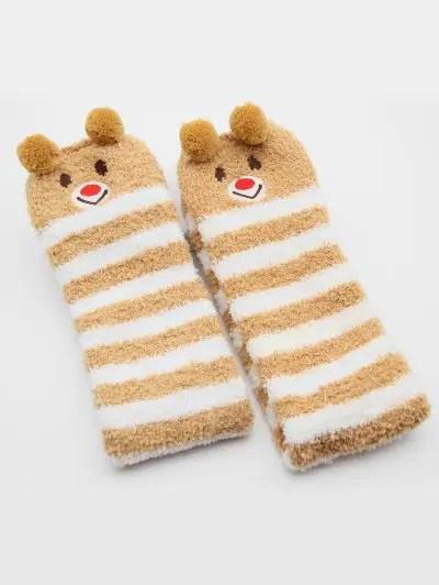 Cartoon Fox Panda Fuzzy Socks