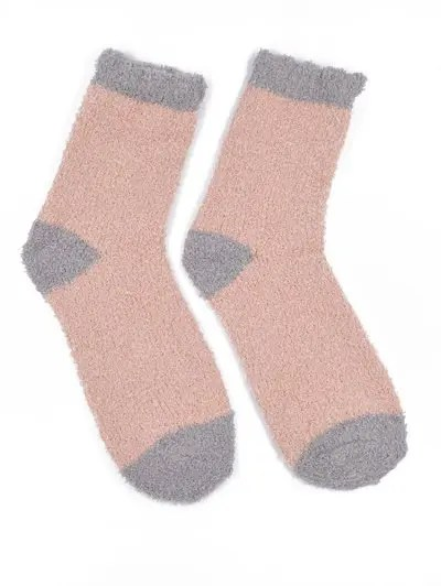 Color Block Winter Fuzzy Socks