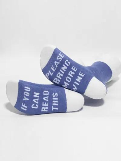 Stylish Funny Sentence Print Ankle Socks