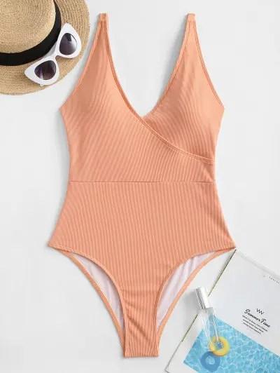 ZAFUL Basic Ribbed One-piece Swimsuit