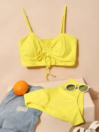 ZAFUL Cinched Tankini Swimsuit