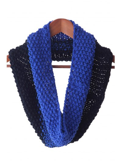 Chic Color Block Knitted Neck Warmer