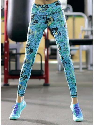 High Stretchy Printed Skinny Women s Ankle Pants