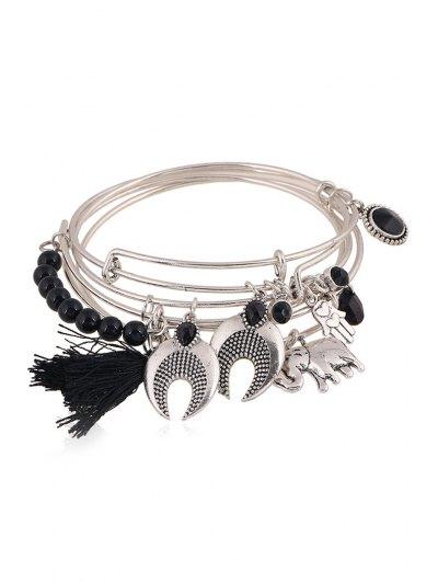Ethnic Knitting Tassel Elephant Bracelet