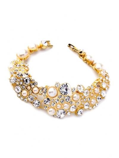 Faux Pearl Chunky Bracelet