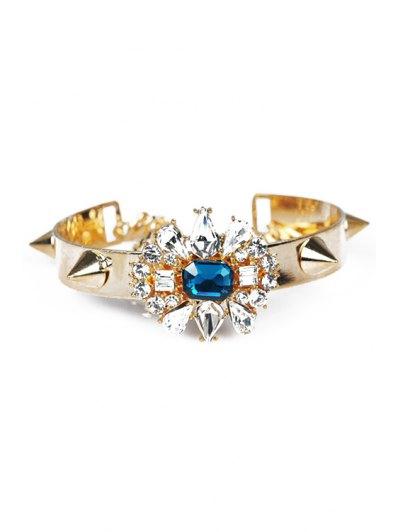 Faux Crystal Floral Rivet Bracelet