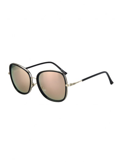 Alloy Match Black Big Frame Sunglasses For Women