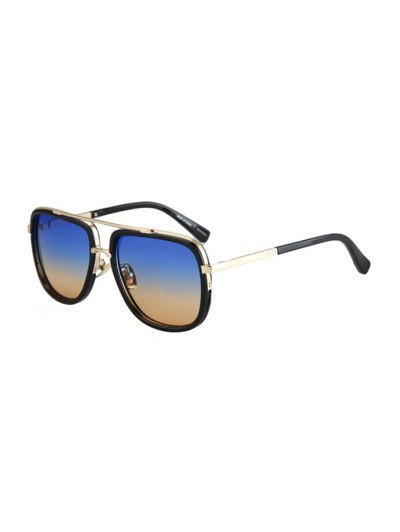 Alloy Match Gradual Color Lenses Sunglasses For Women