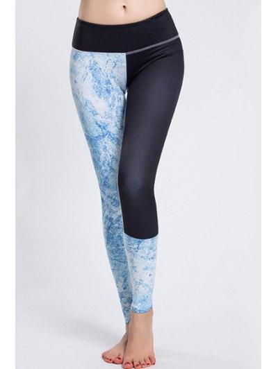 Elastic Waist Printed Sport Leggings For Women