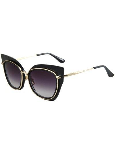 Alloy Match Cat Eye Frame Sunglasses For Women