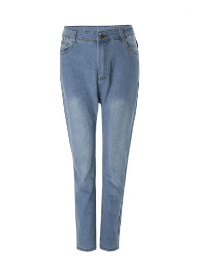 Bleach Wash Wrapped Jeans
