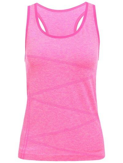 U Neck Space Dyed Racerback Top For Women