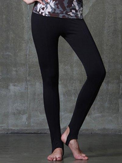 Elastic Waist Solid Color Yoga Pants For Women