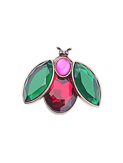 Faux Crystal Bee Brooch For Women