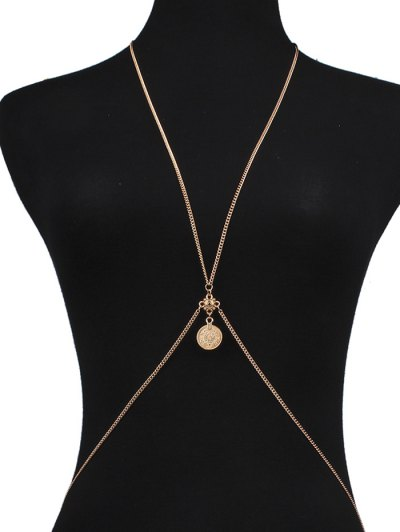 Crossed Coin Body Chain