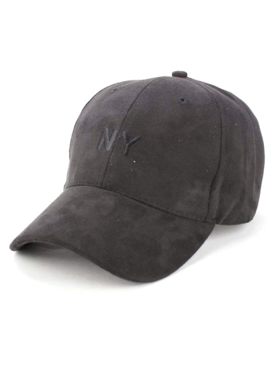 Faux Suede Embroidery Baseball Hat