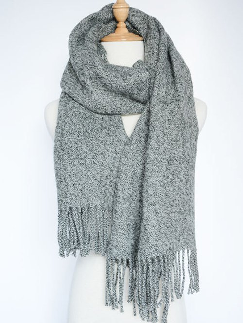 Tassel Knitted Wrap Scarf