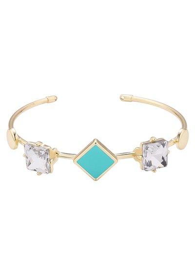 Faux Crystal Square Bracelet